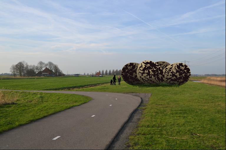 4 meter hoge kievitseieren gaan bijdragen aan het Friese landschapsdebat
