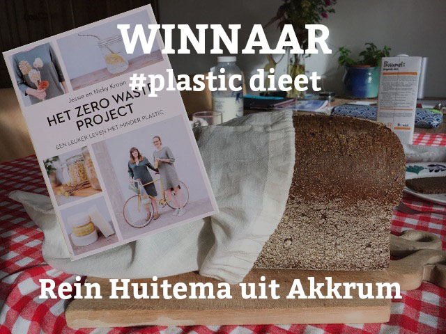 Rein Huitema uit Akkrum WINNAAR #PlasticDieet