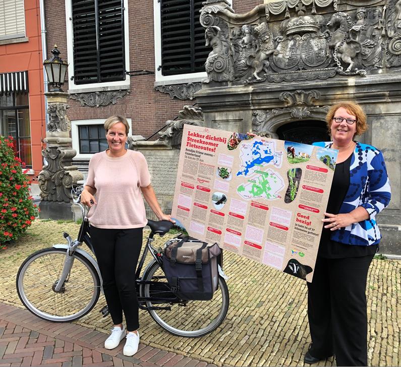 Lancering gezonde en duurzame fietsroute langs de Friese Meren