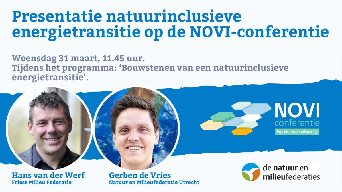 Presentatie natuurinclusieve energietransitie op NOVI-conferentie