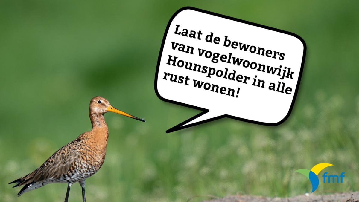 Vogelwoonwijk Hounspolder in gevaar!